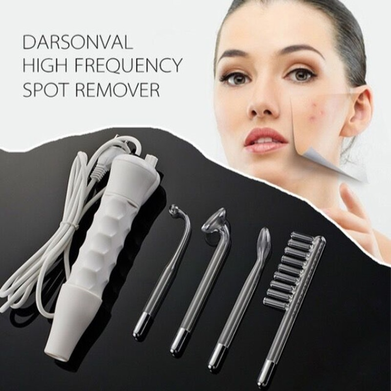 Factory Price Darsonval High Frequency Spot Acne Remover Electrodos Massage Spa Face Skin Health Care Beauty Product Machine (Color: White)