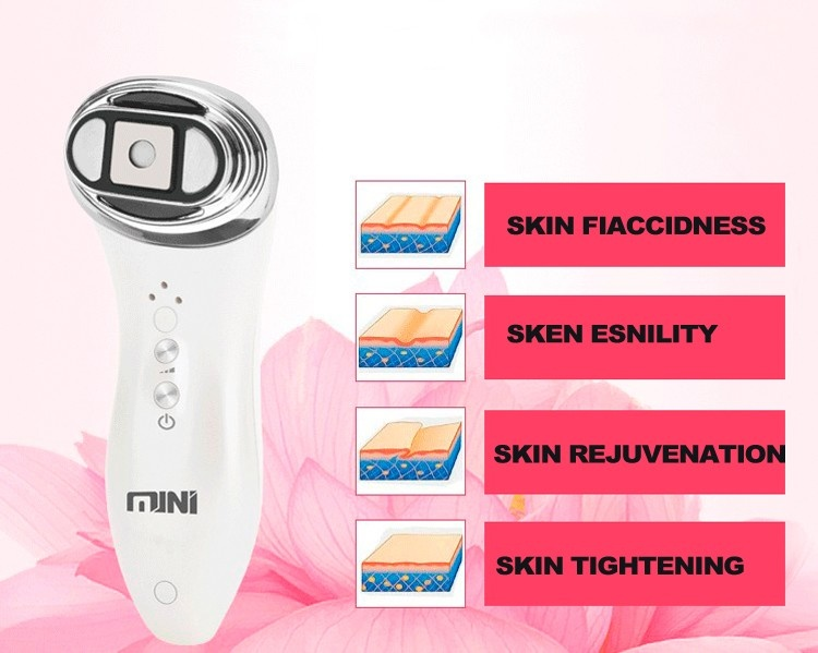 Newest Mini Hifu High Focused Facial Rejuvenation Skin Anti Aging Wrinkle Removal Face Lifting Beauty Machine